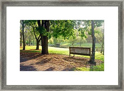 Glow Of Tranquility Framed Print by Kaye Menner