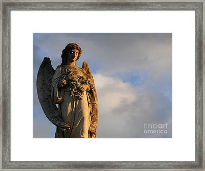 Framed Print featuring the photograph Glowing Angel by Jeanne  Woods