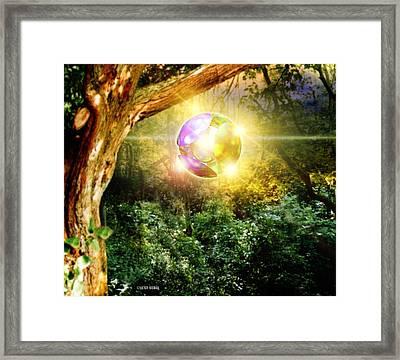 Glowing Ball Ufo Framed Print