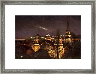 Glowing Edinburgh Framed Print