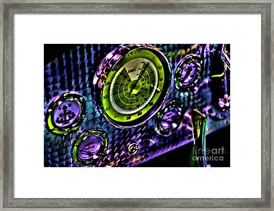 Glowing Gauges Framed Print by Jason Abando
