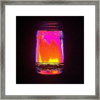Glowing Jar Framed Print