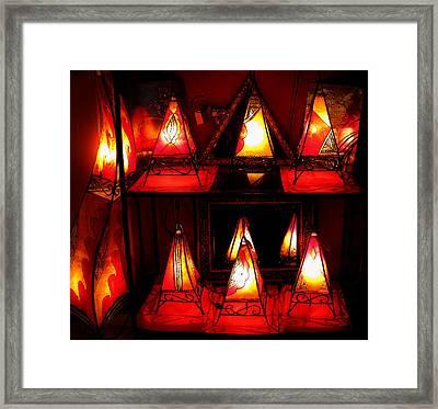 Glowing Lanterns Framed Print by Rose Pasquarelli