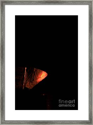 Glowing Lime Limelight Framed Print