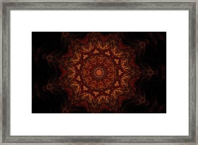 Glowing Within 3 Framed Print by Rhonda Barrett