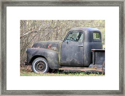 Framed Print featuring the photograph Gmc Rusting At Rest by Mark J Seefeldt