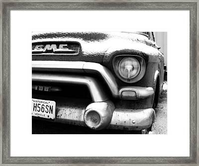 Gmc Truck Framed Print by Brian Mollenkopf