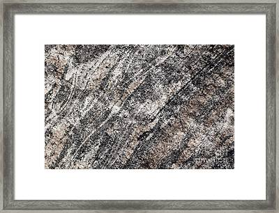 Framed Print featuring the photograph Gneiss Rock Pattern by Les Palenik