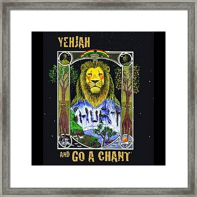 Go A Chant Cover Desing #arte#art Framed Print