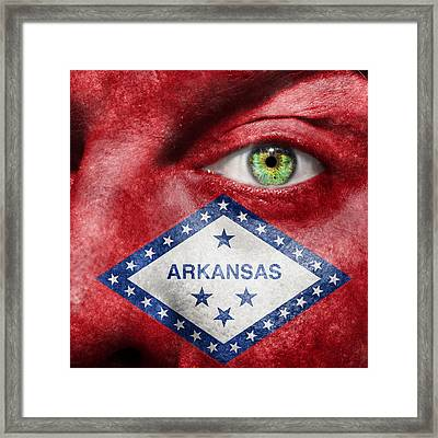 Go Arkansas  Framed Print by Semmick Photo