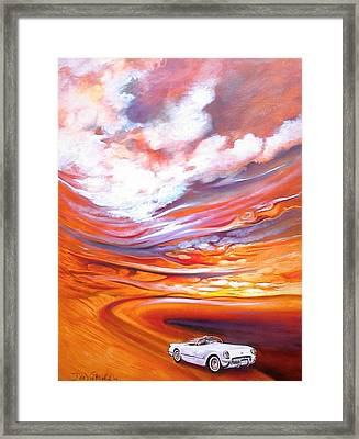 Corvette Heaven Framed Print