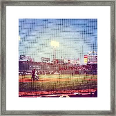 Go Baseballers Go Framed Print