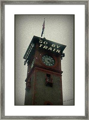Go By Train Framed Print