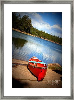 Go Float Your Boat Framed Print by Julie Lueders