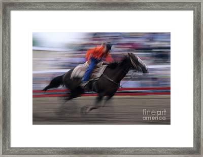 Rodeo Go For Broke Framed Print