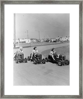 Go Go Cart Girls Framed Print