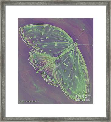 Go Green Butterfly Framed Print by M C Sturman
