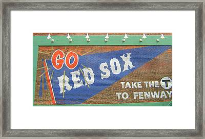 Go Sox Framed Print by Bruce Carpenter