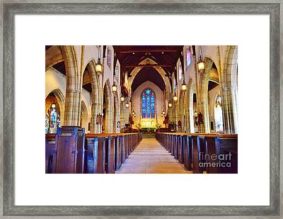Go To Church Framed Print
