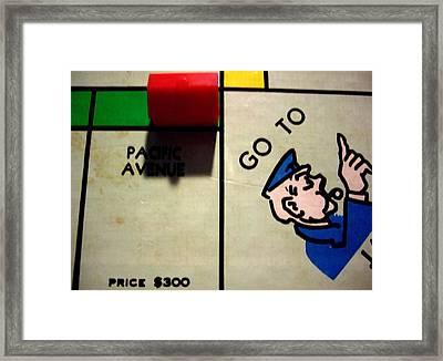Go To Jail Framed Print by Robert Cunningham