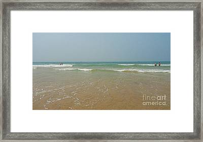 Goa Beach Framed Print by Conceptioner Sunny