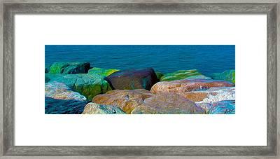 Goa Sea Front Rocks Framed Print