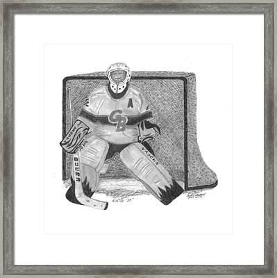 Goalie Framed Print by Bob and Carol Garrison