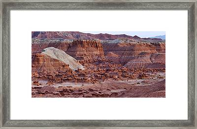 Goblin Valley Triptych Right Framed Print by Gregory Scott