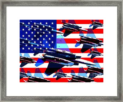 God Bless America Land Of The Free Framed Print by Wingsdomain Art and Photography