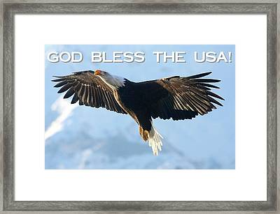 God Bless The Usa 2 Framed Print by Carrie OBrien Sibley