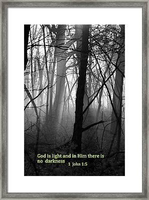 God Is Light Framed Print by Rick Rauzi