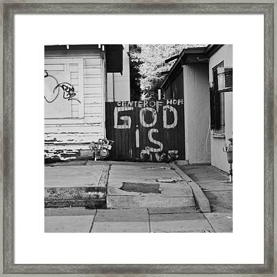 God Is Love Framed Print by Lennie Green
