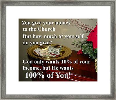 Framed Print featuring the photograph God Wants You by Chad and Stacey Hall