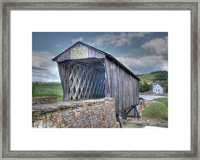 Goddard Covered Bridge Framed Print