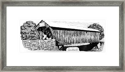 Goddard Covered Bridge Framed Print by Kyle Gray