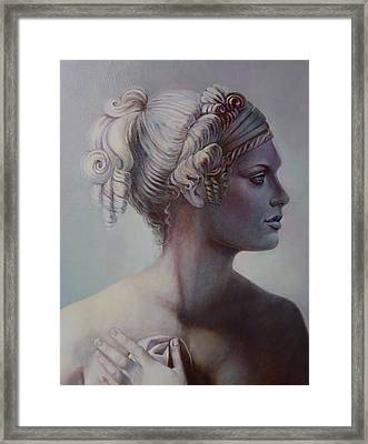 Goddess Detail Framed Print by Geraldine Arata