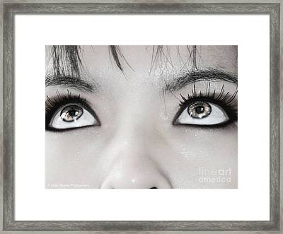 Framed Print featuring the photograph Goddess Eyes by Ester  Rogers