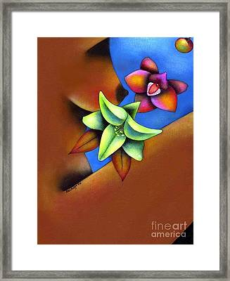 Goddess In Bloom Framed Print by Mucha Kachidza