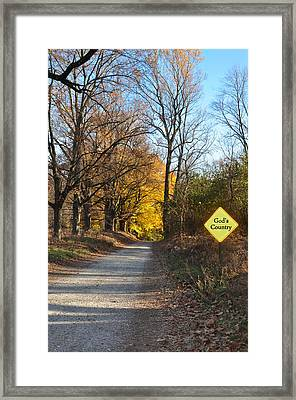 Gods Country Framed Print by Bill Cannon