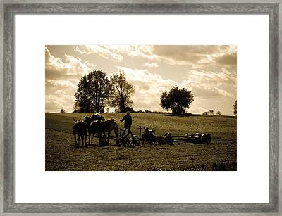 God's Country Framed Print by Trish Tritz