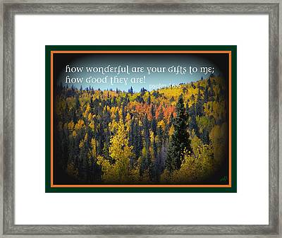 God's Gifts Framed Print by Michelle Frizzell-Thompson