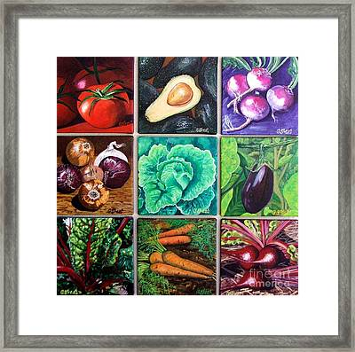 God's Kitchen Series Canvasses One To Nine Framed Print by Caroline Street