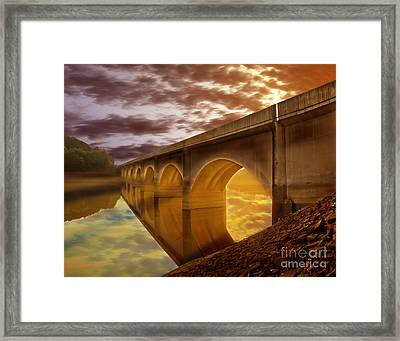 Gods Lights Framed Print by Nigel Hatton