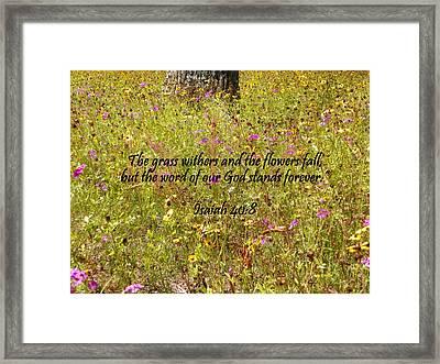Gods Word Stands Forever Framed Print by Sheri McLeroy