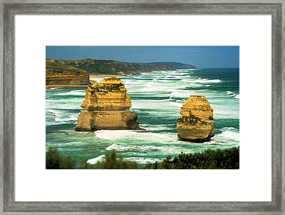 Framed Print featuring the photograph Gog And Magog by Dennis Lundell