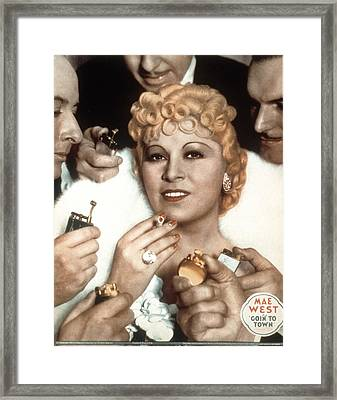 Goin To Town, Mae West, 1935 Framed Print by Everett