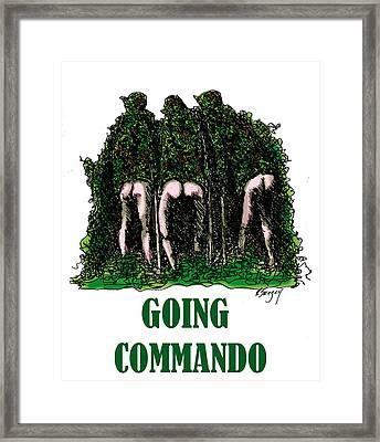 Going Commando Framed Print