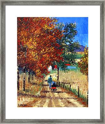 Going Home Framed Print by Anthony Falbo