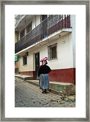 Going Home From The Market Framed Print