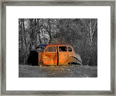 Going No Where Fast Framed Print by John Comeau